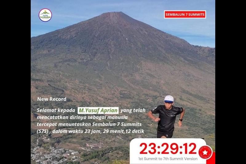 """Pelari gunung asal Bandung tuntaskan """"Sembalun 7 Summits"""" kurang dari 24 Jam"""