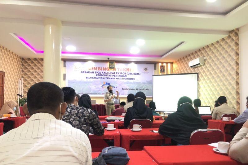 Balai Karantina Pekanbaru dorong ekspor pertanian di Inhil