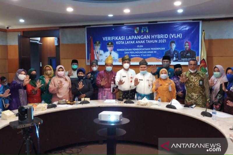 """Menuju Kota Layak Anak Pekanbaru masuki tahapan verifikasi """"hybrid"""""""