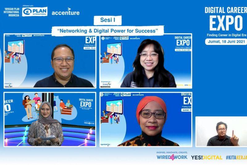 Dorong kesempatan kerja setara bagi kaum muda, Kemnaker-Plan Indonesia gelar Digital Career Expo 2021