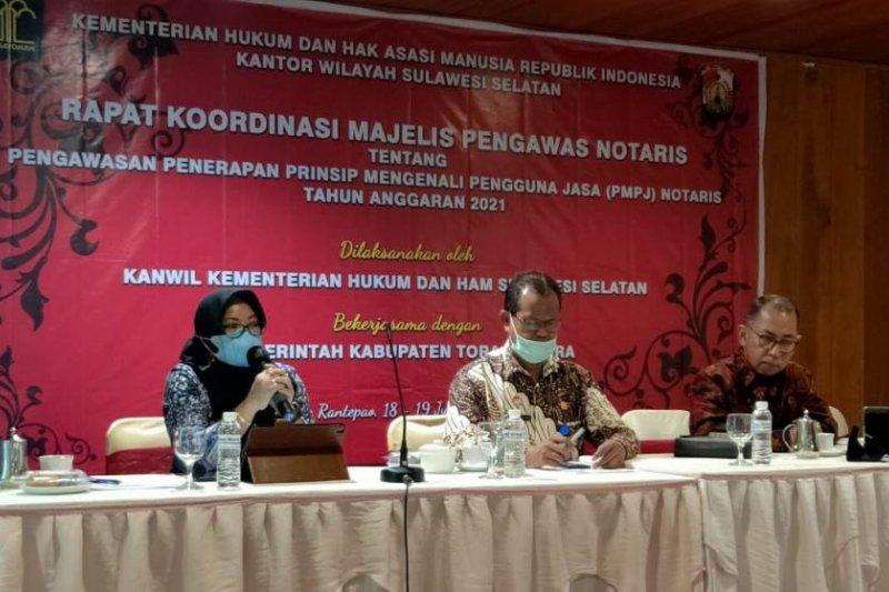 Kanwil Kemenkumham Sulsel sosialisasikan penerapan PMPJ Notaris