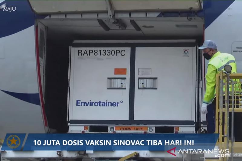 Indonesia kembali terima 10 juta bulk Sinovac