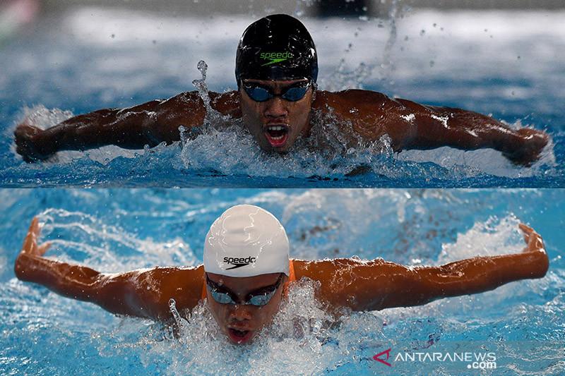 Fadlan dan Azzahra terhenti di babak penyisihan renang Olimpiade