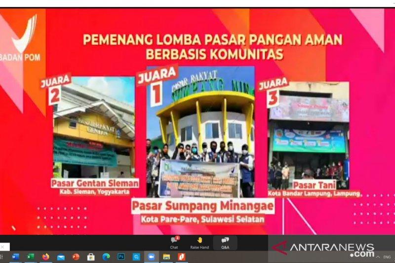 Pasar Sumpang Minangae Parepare juara 1 nasional Lomba Pasar Aman