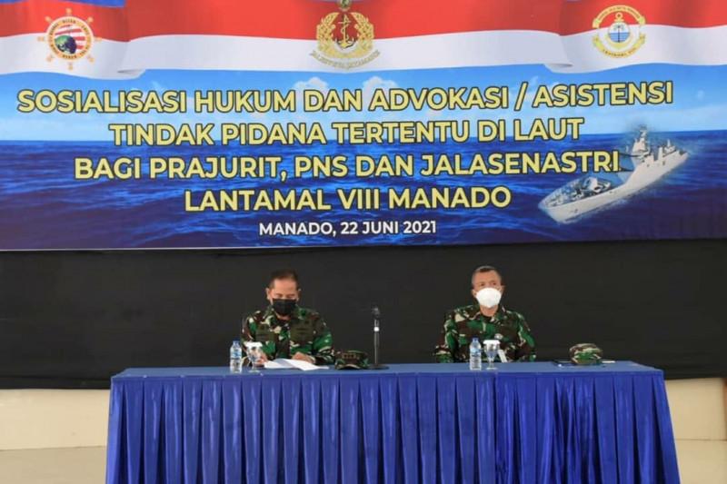 Diskum AL sosialisasi hukum dan advokasi/asistensi tindak pidana di laut