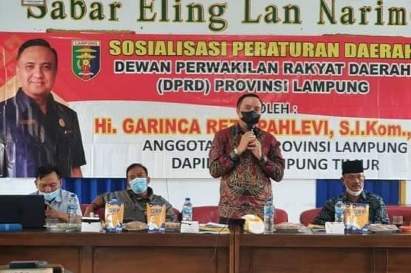 Legislator Lampung sosialisasikan Perda Perlindungan dan Pemberdayaan UMKM