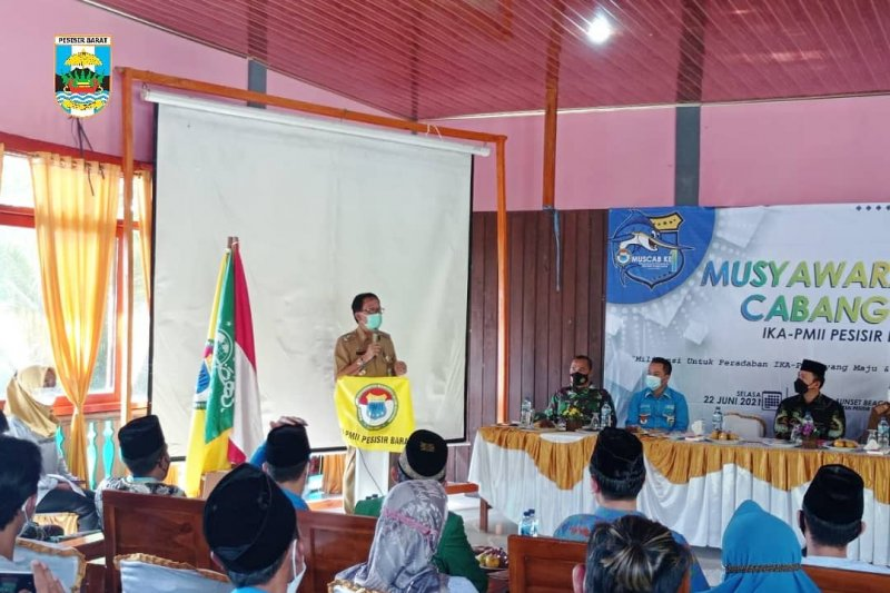 Bupati Pesisir Barat hadiri acara muscab IKA PMII