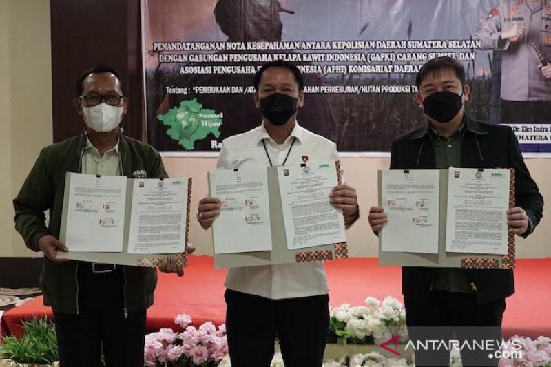 Reskrimsus Polda Sumsel tangani dua kasus pembakaran lahan