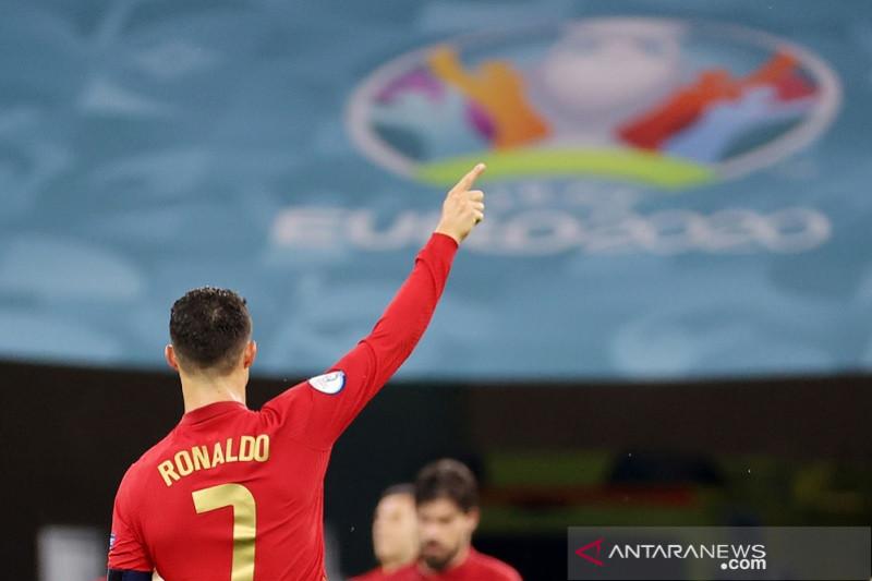 Ronaldo sementara puncaki top skor Euro 2020 dengan 5 gol