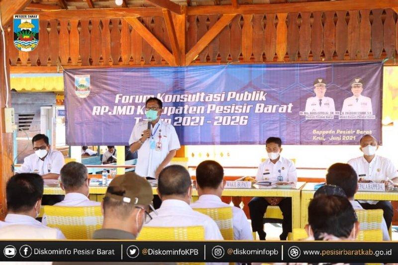 Bupati Pesisir Barat buka acara forum konsultasi publik