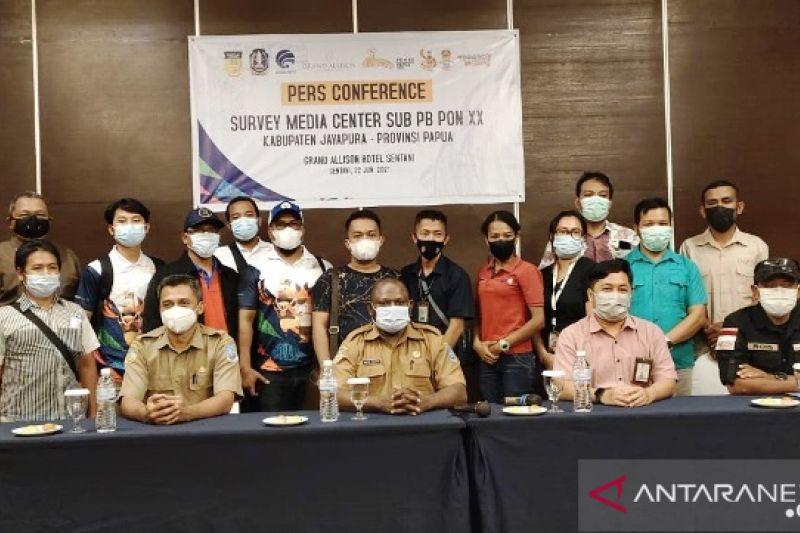 Ditjen IKP Kemenkominfo survei media center PON XX Papua klaster Jayapura