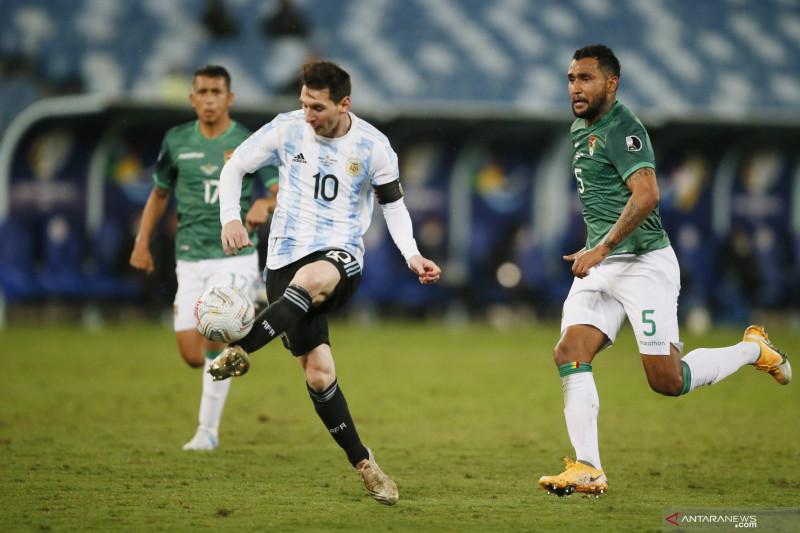 Dua gol Messi bantu Argentina hancurkan tim Bolivia 4-1