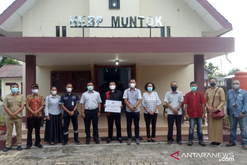 PT Timah bantu perbaikan gedung Gereja HKBP Mentok