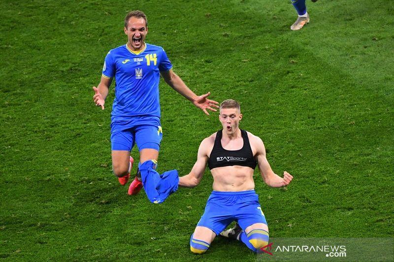 Gol dramatis babak tambahan tentukan Ukraina kalahkan Swedia