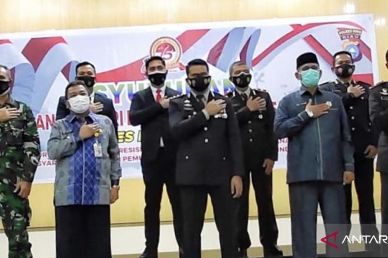 Pj Bupati Inhu ikuti HUT Bhayangkara ke-75 secara virtual