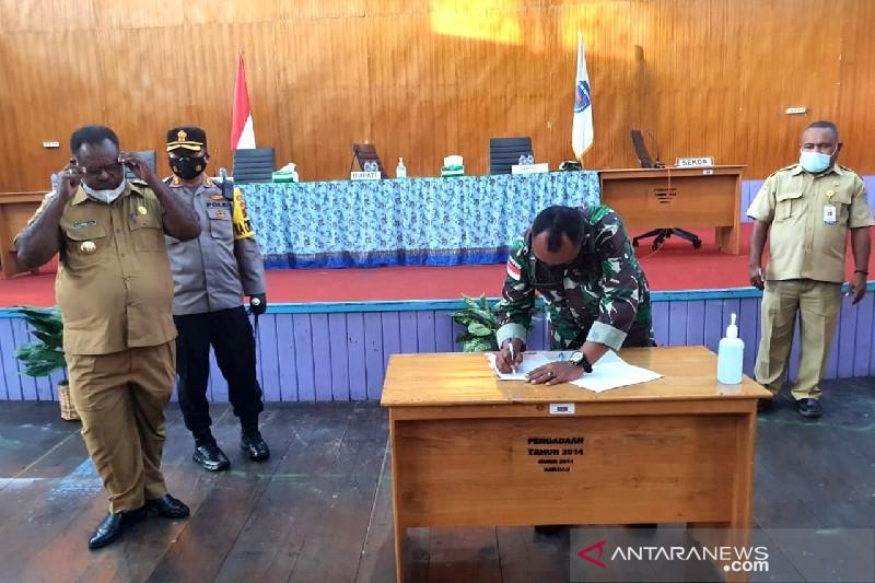 TNI di Asmat ikuti rapat evaluasi pencegahan COVID-19