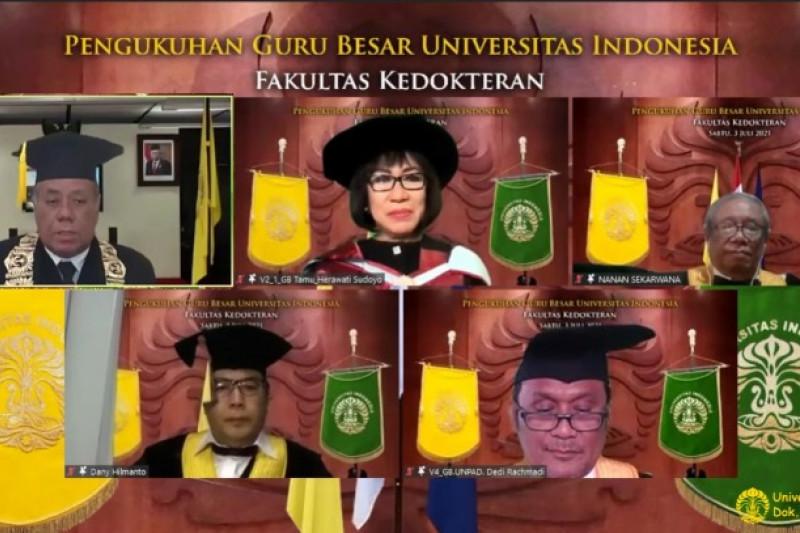 Universitas Indonesia kukuhkan tiga guru besar FKUI