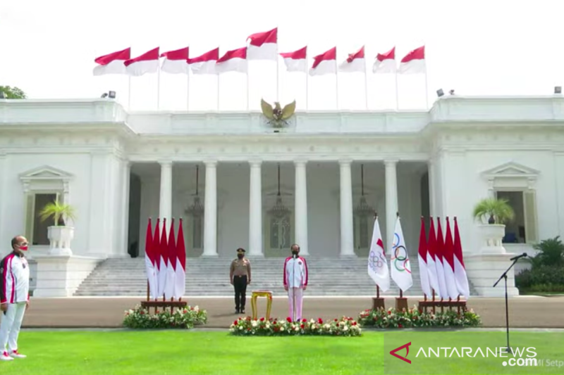 Presiden Joko Widodo lepas kontingen Indonesia ke Olimpiade Tokyo 2021