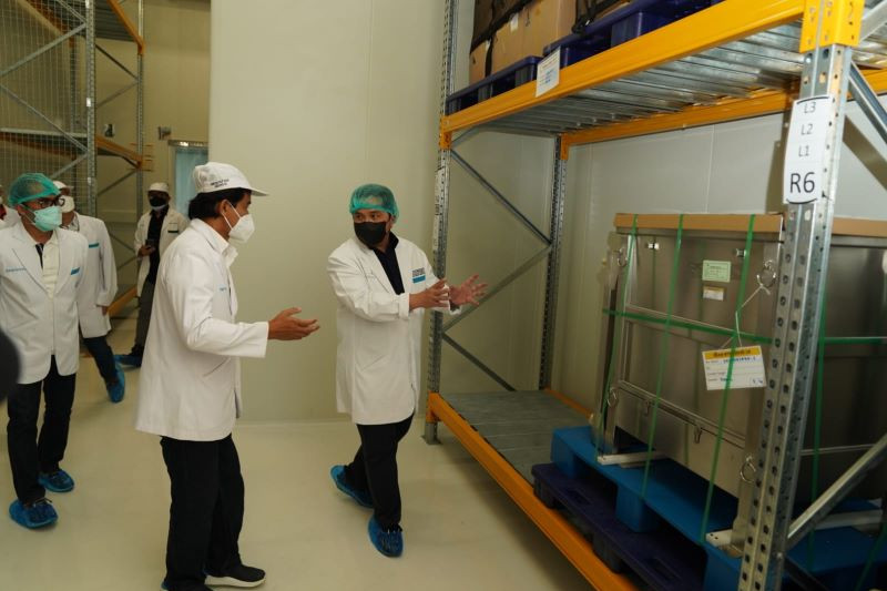 Erick Thohir minta Bio Farma tingkatkan produksi vaksin Covid