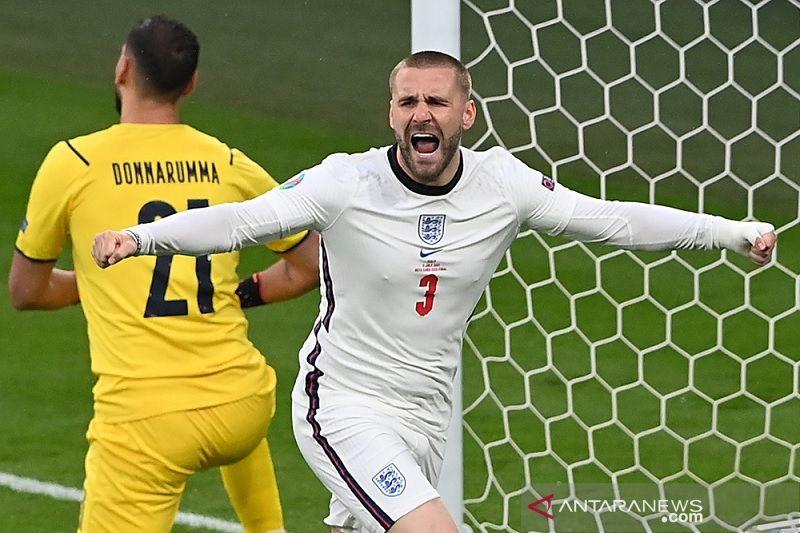 Luke Shaw pecahkan rekor gol tercepat di laga final Euro
