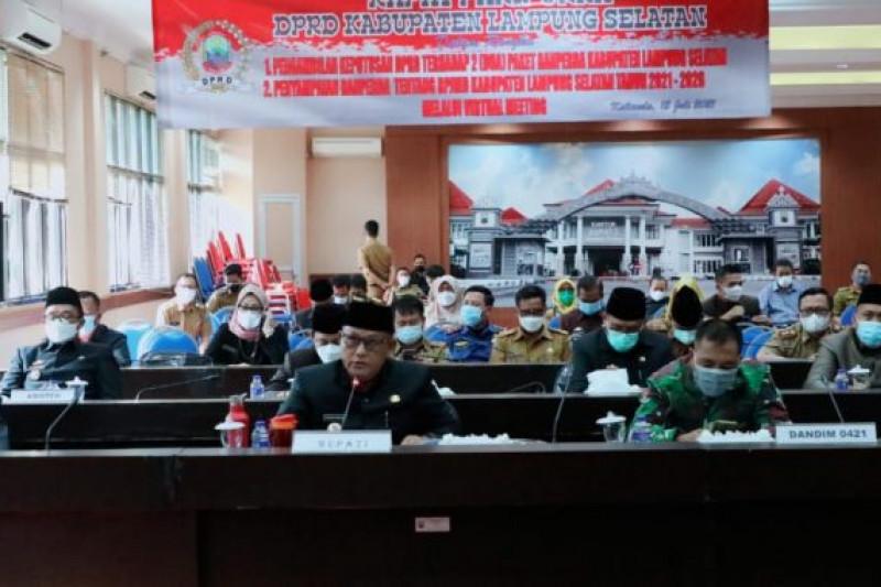 Bupati Lampung Selatan sampaikan raperda RPJMD tahun 2021-2026