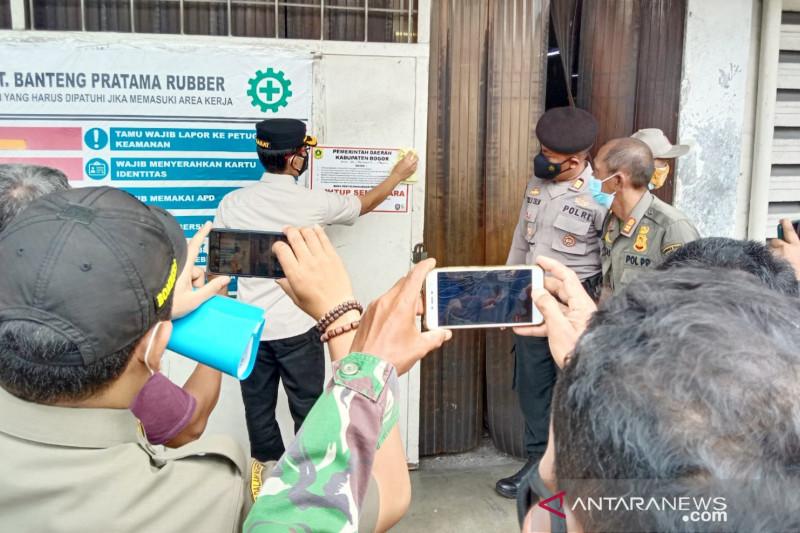 Dua pabrik di Bogor ditutup sementara, ini alasannya