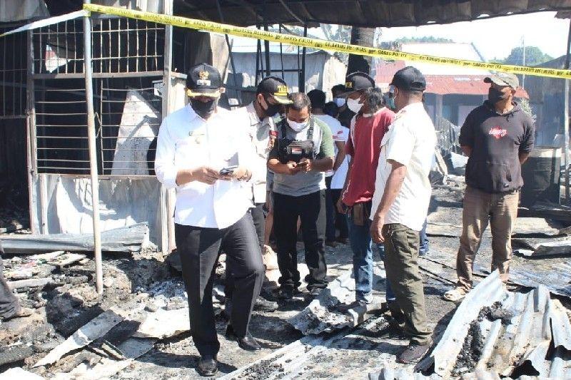 Wakil wali kota Jayapura tinjau lokasi kebakaran di Abepura