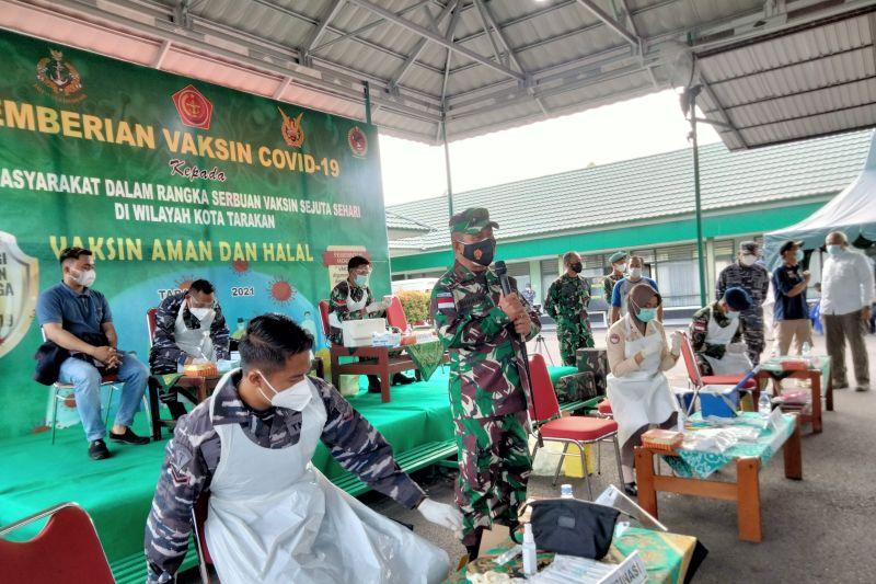 TNI Sudah Beri Vaksin COVID-19 Pada 3.724 Warga di Tarakan