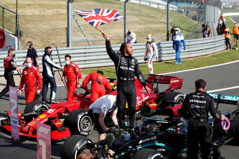 Lewis Hamilton akhirnya juarai GP Inggris untuk kedelapan kali
