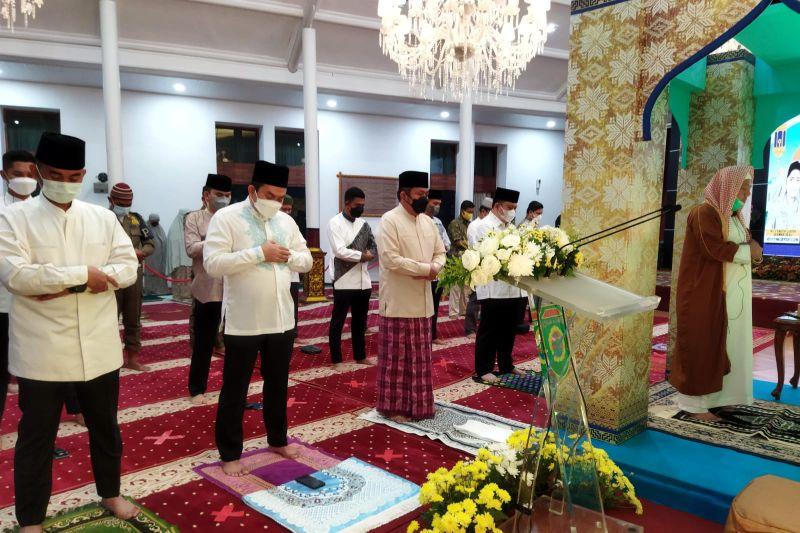 Gubernur Sumsel Shalat Idul Adha di rumah dinas Griya Agung
