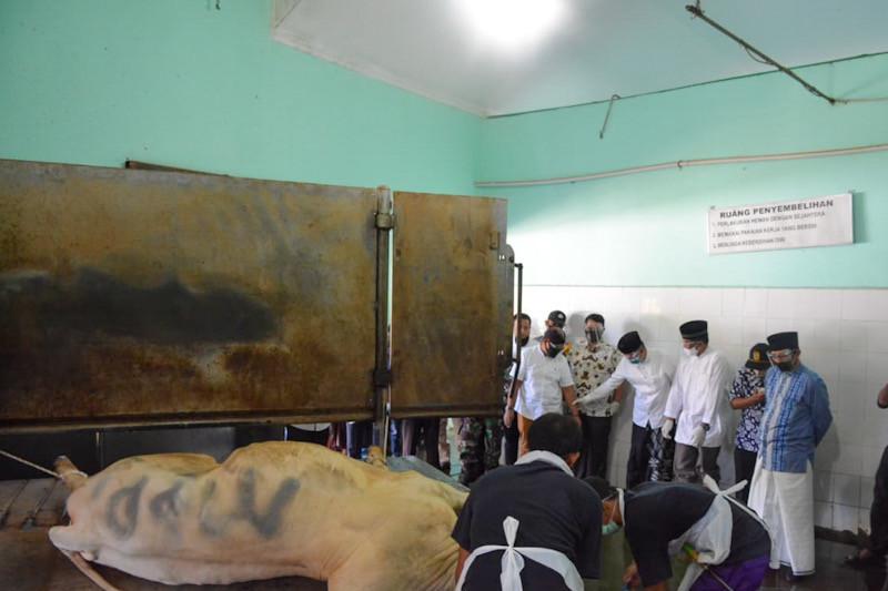 RPH Giwangan Yogyakarta melayani penyembelihan 75 sapi kurban per hari