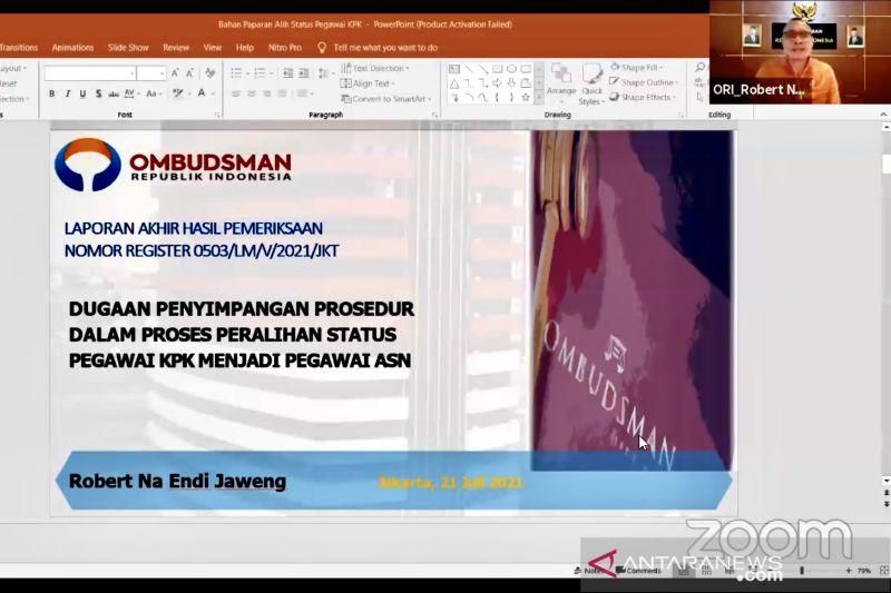 Ombudsman umumkan temuan maladministrasi pada peralihan pegawai KPK jadi ASN