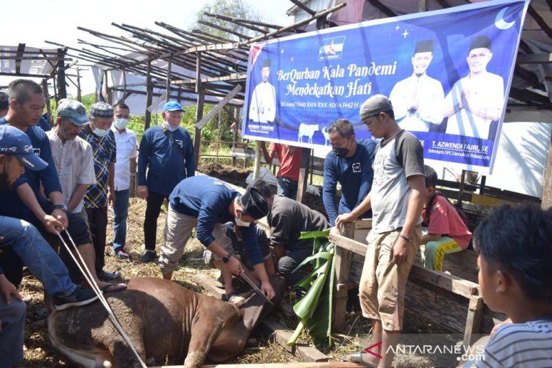 Demokrat Pekanbaru sembelih lima sapi