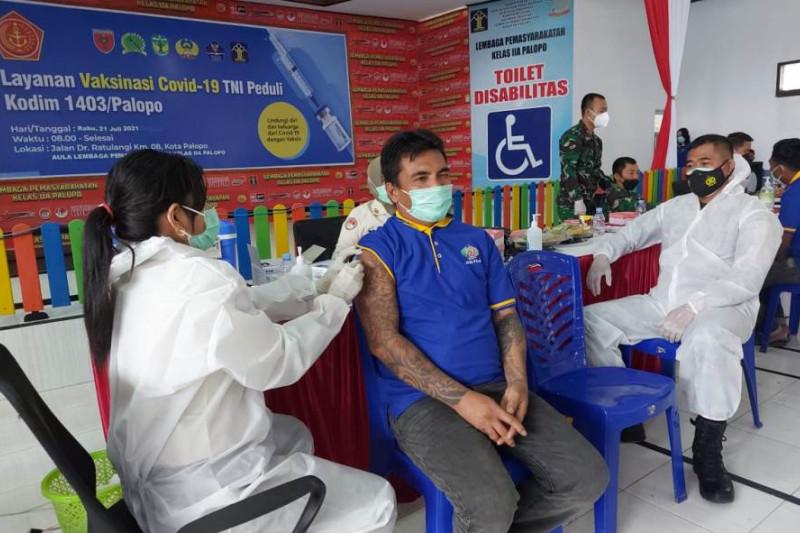 Sebanyak 3.496 WBP di Sulsel telah menjalani vaksinasi COVID-19