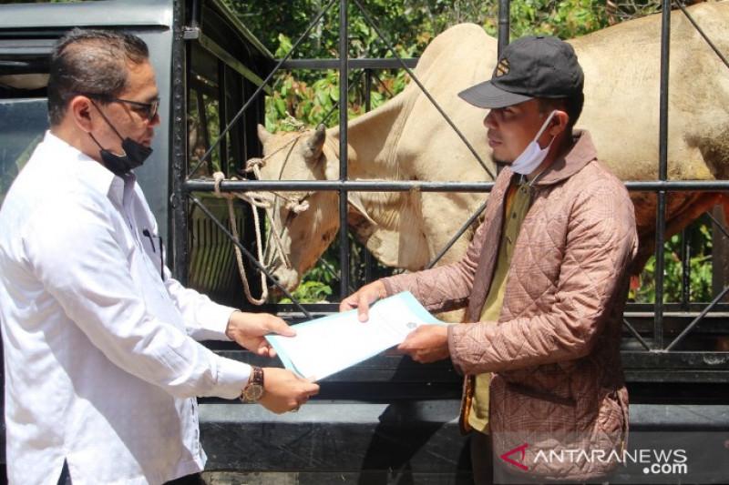 Kemenag Pasaman bantu hewan kurban masyarakat terpencil