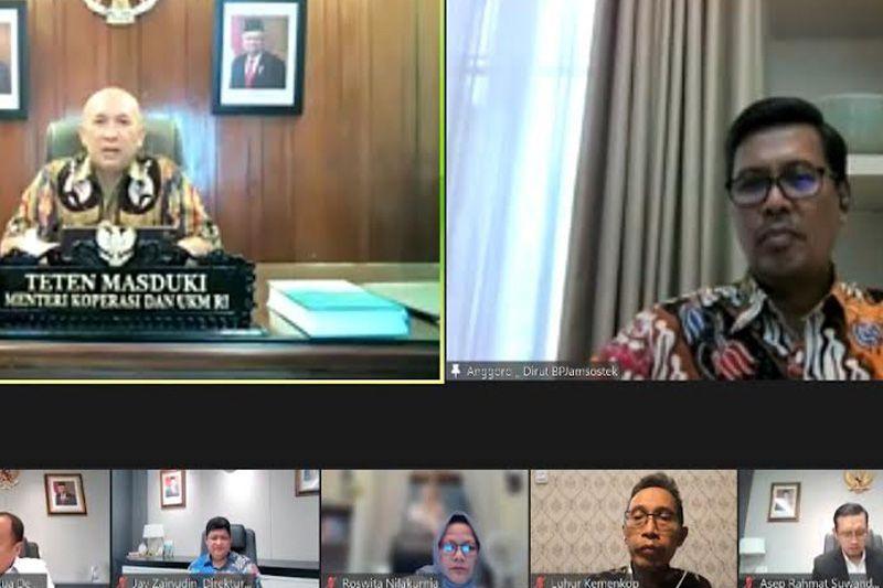 BPJS Ketenagakerjaan audiensi virtual dengan Kemenkop UKM