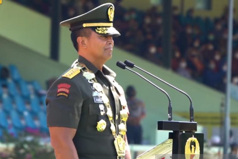 Kasad ingatkan lulusan Akmil jadi calon prajurit harus punya semangat juang