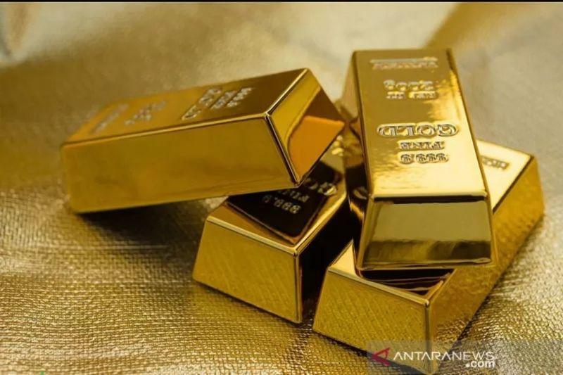 Harga emas jatuh lagi 5,3 dolar terseret penguatan