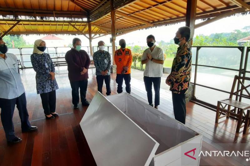 Posko Kota Bogor terima bantuan peti jenazah