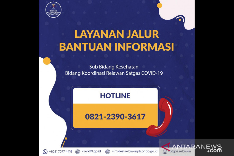 Hotline 082123903617 informasikan ketersediaan kamar RS  di DKI dan Bandung Raya