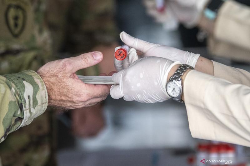Tentara Amerika Jalani Tes PCR Setiba Di Palembang