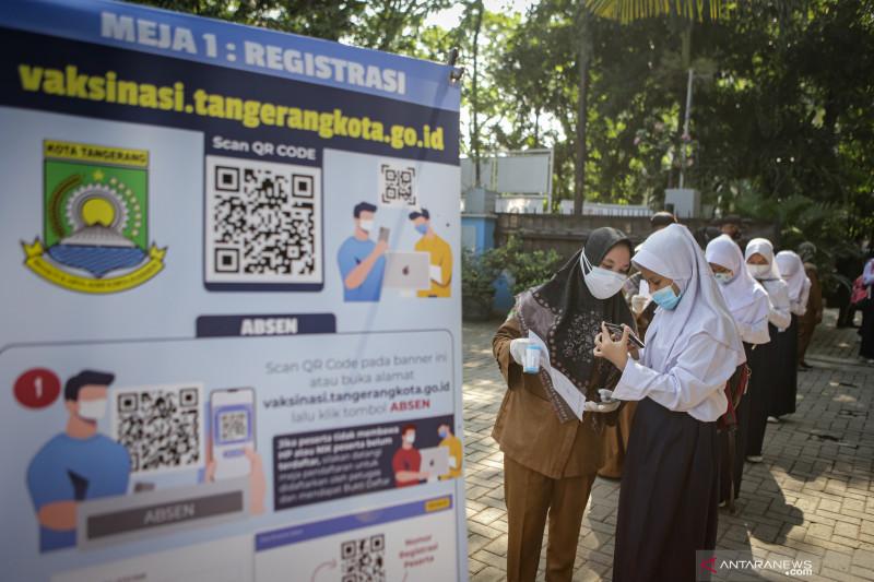 Penduduk RI telah divaksinasi dosis pertama tambah 555.030 orang