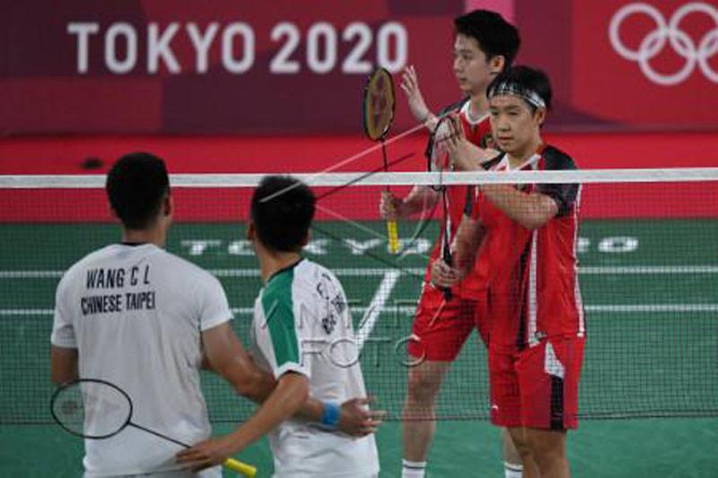 Ganda putra Indonesia melawan Taiwan