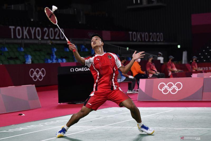 Anthony Ginting singkirkan Tsuneyama untuk ke perempat final Olimpiade