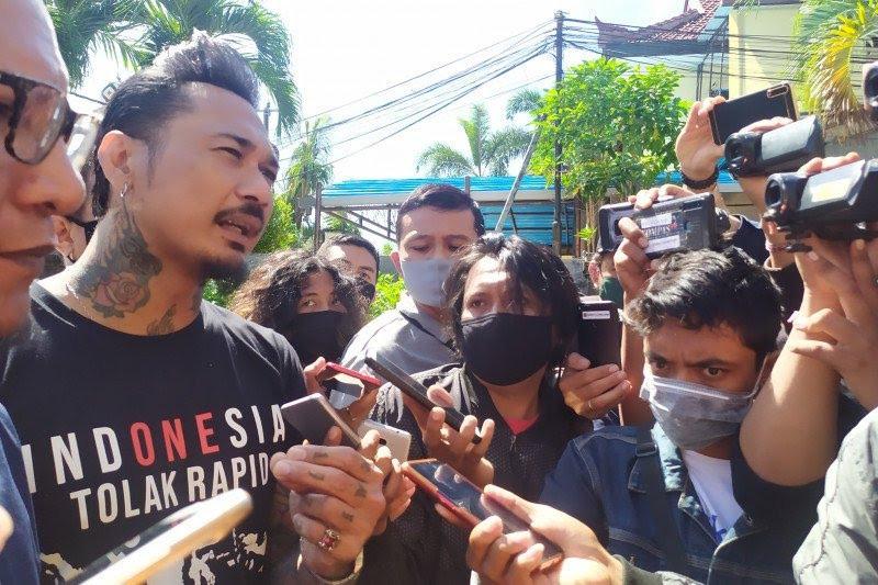 Jerinx SID telah diperiksa Polda Metro di Polres Badung-Bali