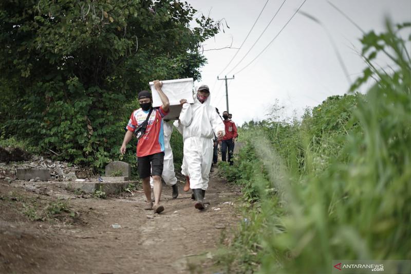 Angka pertambahan kasus kematian harian karena COVID-19 di Kota Bandung semakin menurun