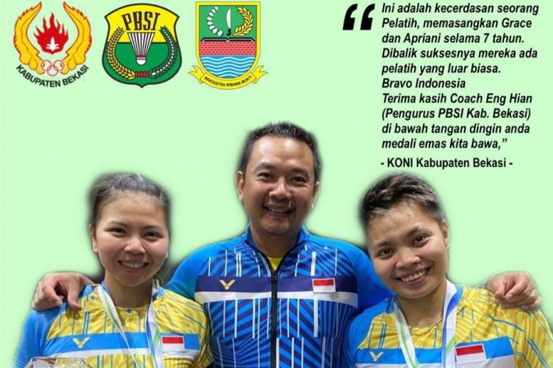 KONI Kabupaten Bekasi puji pelatih ganda putri Eng Hian