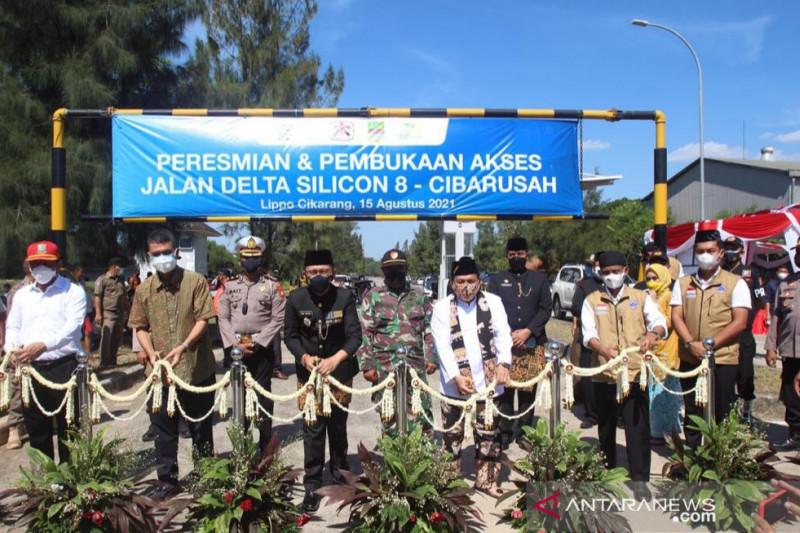 Bupati Bekasi Dani Ramdan resmikan akses Delta Silicon 8