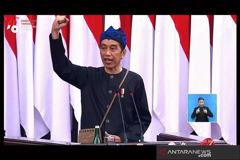 Pidato lengkap Presiden Joko Widodo pada Sidang Tahunan MPR/DPD/DPR 2021