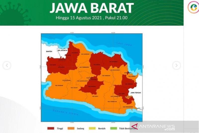 Kota Bandung masih zona oranye meski di Pikobar merah, sebut Dinkes
